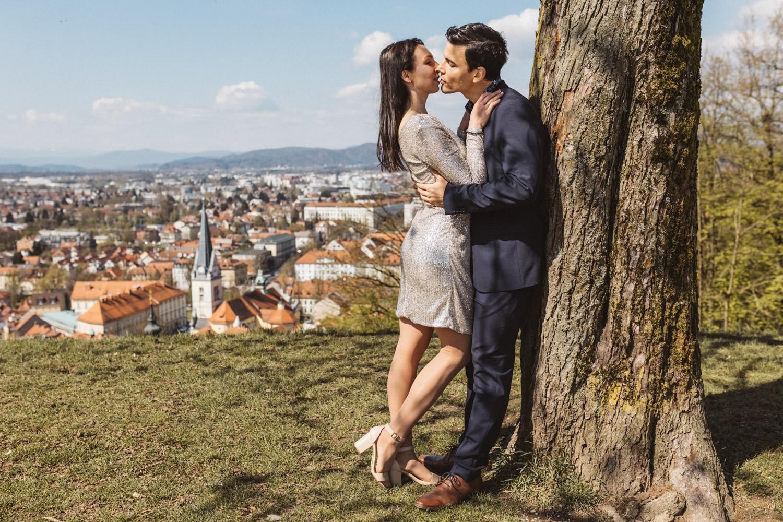 Zaročno fotografiranje Ljubljanski Grad